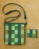 Malá kabelka - všívání zipu do tašky